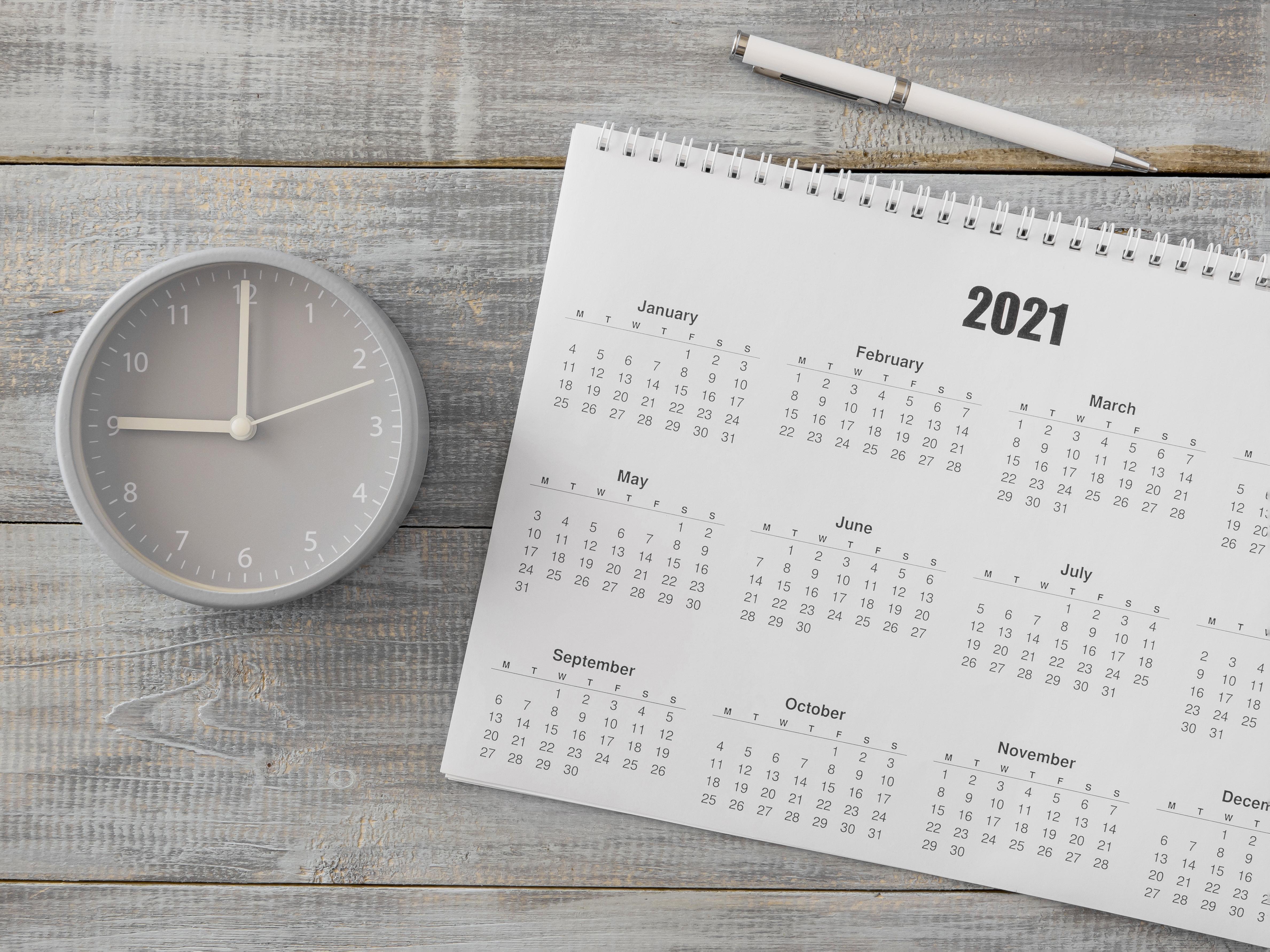 Calendario laboral de 2021
