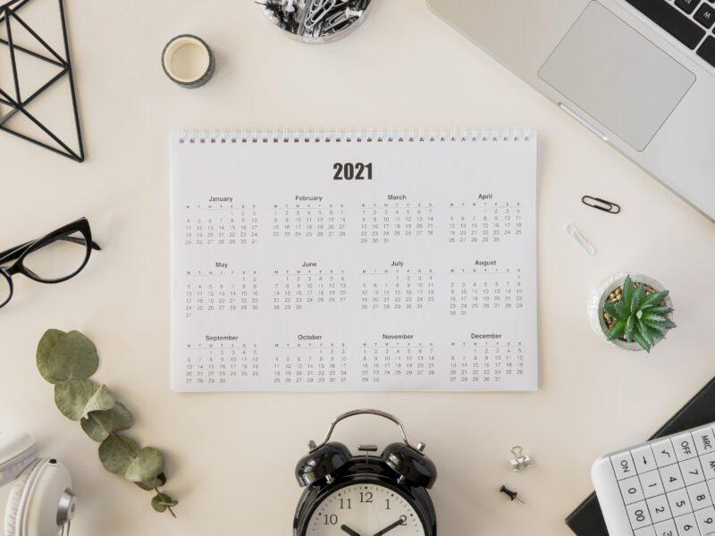 días inhábiles para 2021
